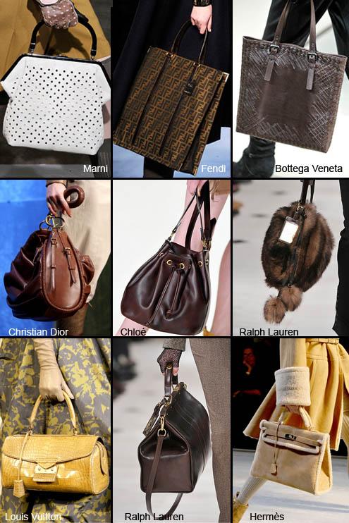 Виды форм сумок fendi