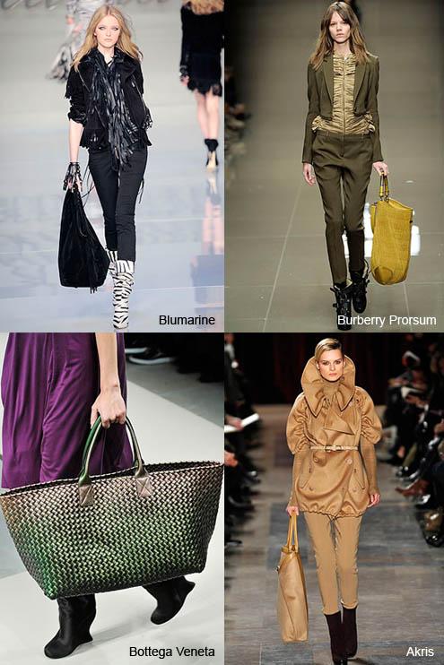 Модные женские сумки большого размера.