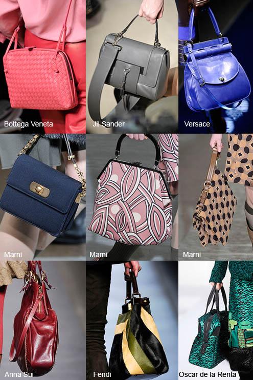 Помимо сумок, представленных в рамках. модных цветов сезона 2010-2011.